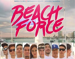 Beach Party Nasugbu Batangas - Beach Force 2014