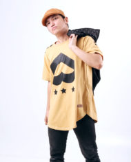 Love Army Insignia Long Tee, Camel Colorway