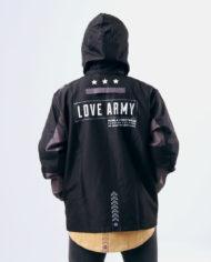 Love Army Prime Windbreaker (Black/Dark Gray)