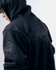 Embroidered Insignia Pullover Hoodie (Stealth Black)