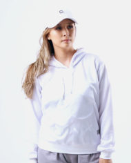Embroidered Insignia Pullover Hoodie (Stealth White)