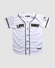 Lightweight Baseball Jersey by Love Army (White)