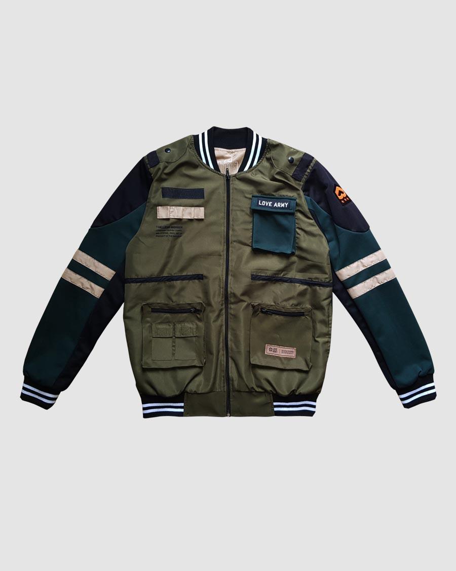 """""""LEAF"""" Olive Tactical Bomber Jacket"""